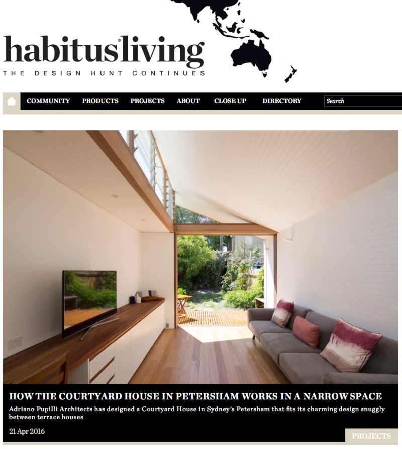"""Courtyard House Petersham"" featured in Habitus Living"