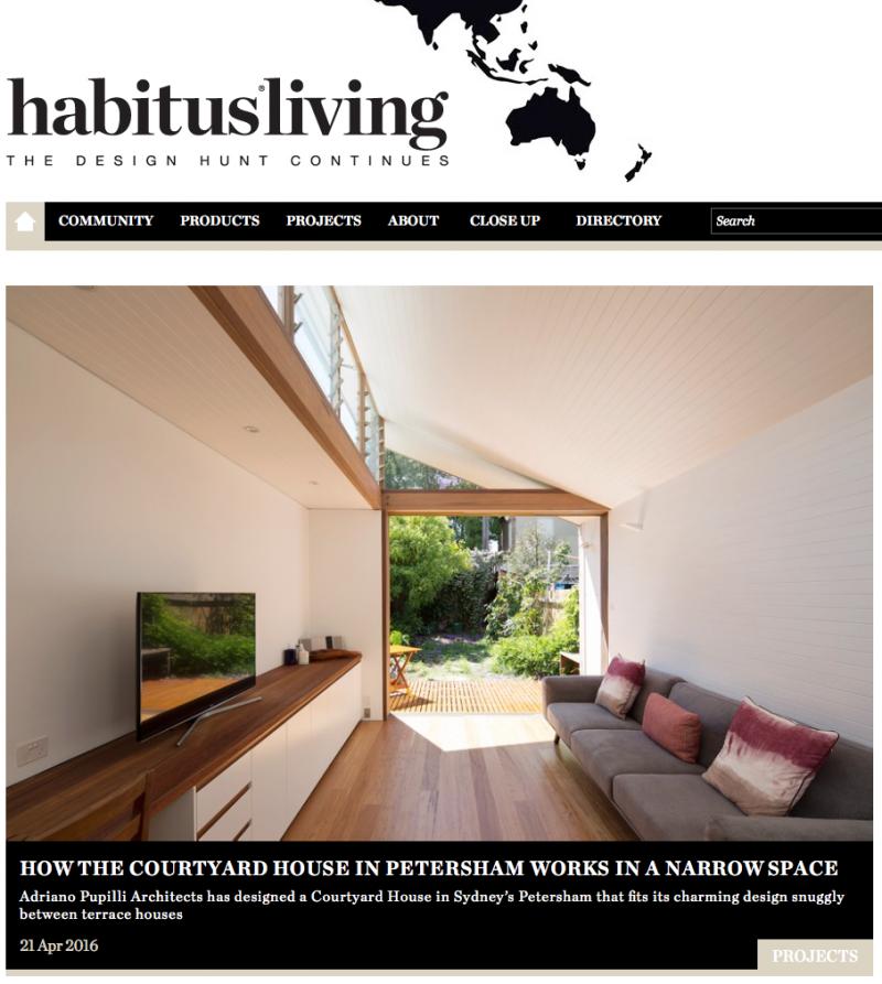 """Courtyard House Petersham"" featured in Habitus Living"