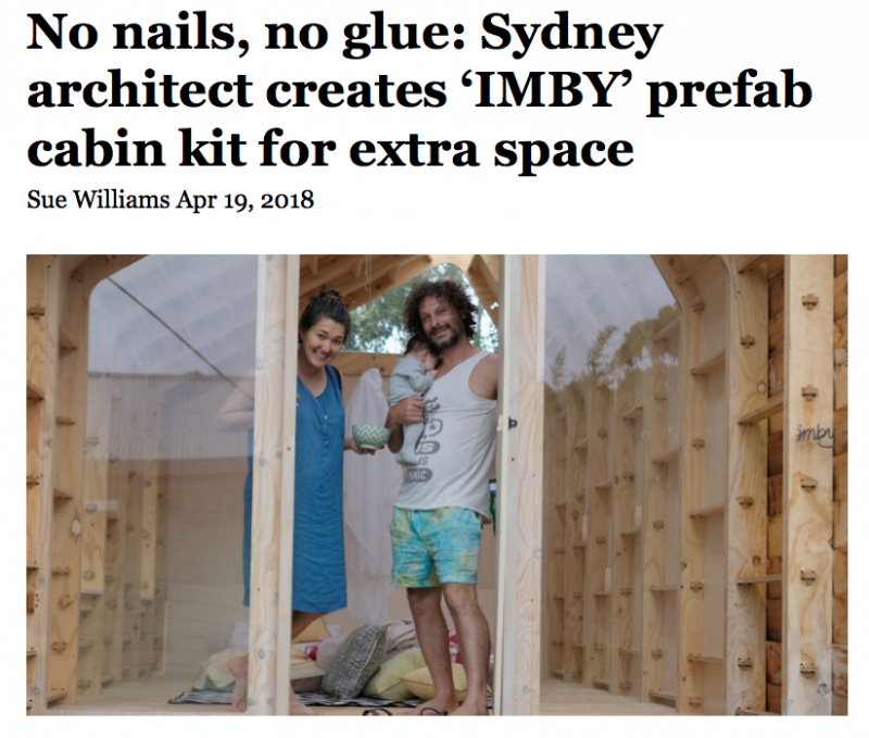 "IMBY Kit featured in SMH ""No Nails, No Glue"""