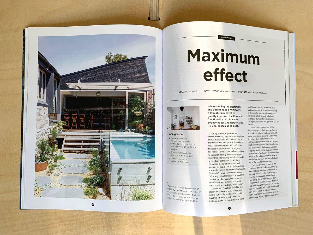"""""""Maximum Effect"""". Garden Room House Featured in Sanctuary Magazine"""